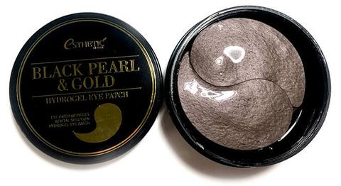 Гидрогелевые патчи для глаз с черным жемчугом и золотом Esthetic House Black Pearl & Gold Hydrogel Eye Patch