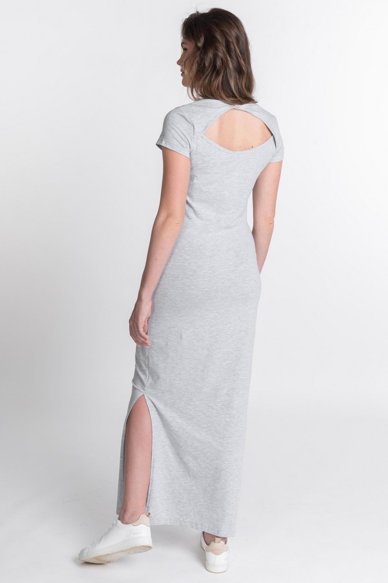 Фото платье для беременных Magica bellezza, длинное трикотажное от магазина СкороМама, серый, размеры.