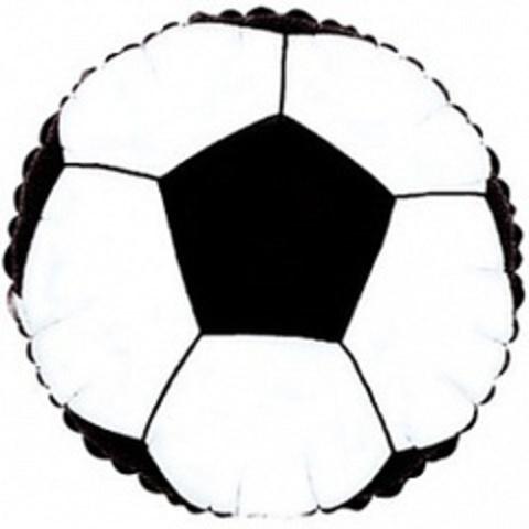 Круг, Футбольный мяч, черный, 18