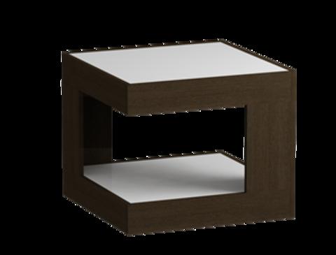 Стол журнальный 746 LS (Венге/Белое стекло)
