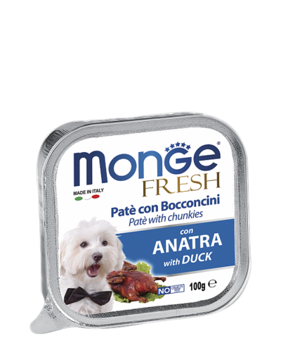 Monge Dog Fresh All Breeds Pate e Bocconcini con Anatra With Duck