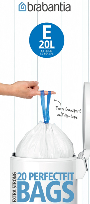 Мешки для мусора PerfectFit, размер E (20 л), рулон, 20 шт., арт. 245329 - фото 1