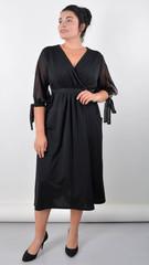 Алла. Вишукана сукня plus size. Чорний.