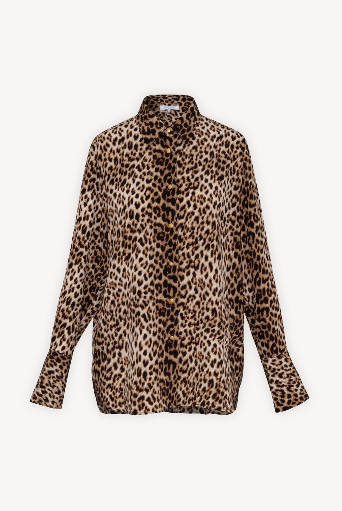 Шелковая блузка с анималистичным принтом