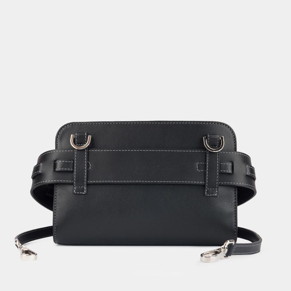 Женская сумка Elodie Easy из натуральной кожи теленка, черного цвета