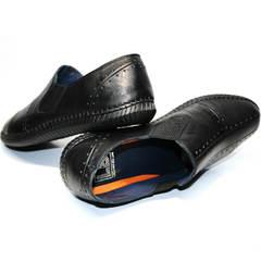 Туфли слипоны мужские Luciano Bellini 107607 Black.