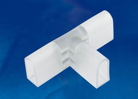 UTC-K-32/N21 CLEAR 010 POLYBAG Соединитель контактный Т-образный для светодиодных лент ULS-N21 NEON 220В, 8x16мм, 2 контакта. Цвет прозрачный, 10 штук в пакете. TM Uniel.