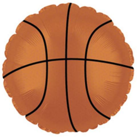 Круг, Баскетбольный мяч, Коричневый, 18''/46 см, CTI, 1 шт.