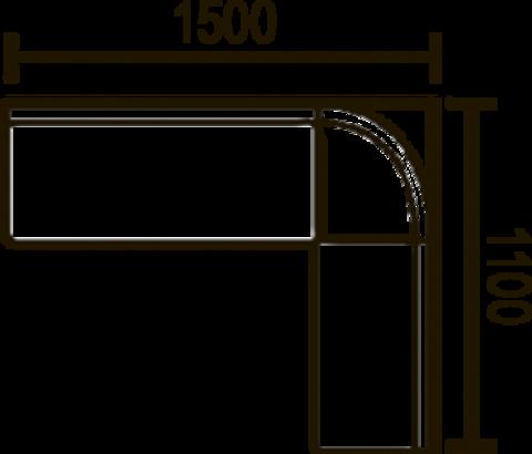 кухонный угловой диван Этюд облегченный