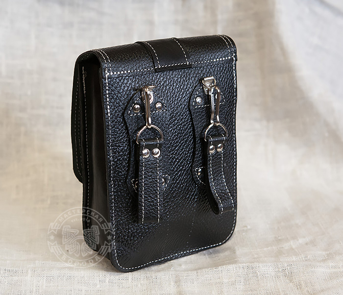 BAG379-1 Мужская сумка на пояс из натуральной кожи, ручная работа фото 02
