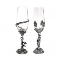 Набор бокалов «Он и Она», посеребрение, фото 1
