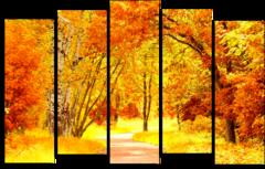"""Модульная картина """"Осенний пейзаж"""""""