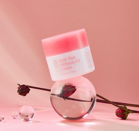 Крем с мягкими кислотами и гибискусом, 50 мл / By Wishtrend Acid-Duo Hibiscus 63 Cream