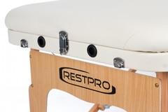 Массажный стол деревянный 3-хсекционный RESTPRO VIP 3 Cream