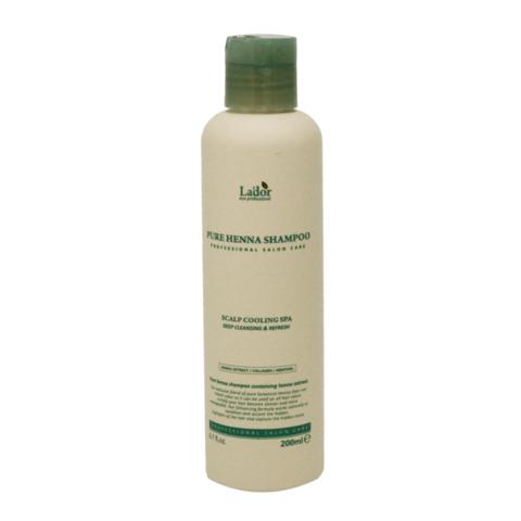 Шампунь для волос с хной укрепляющий LA'DOR Pure Henna Shampoo 200мл