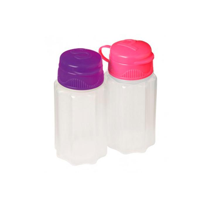 """Набор ёмкостей для специй Sistema """"TO GO"""" 35 мл, 2шт., цвет Фиолетовый/Розовый"""