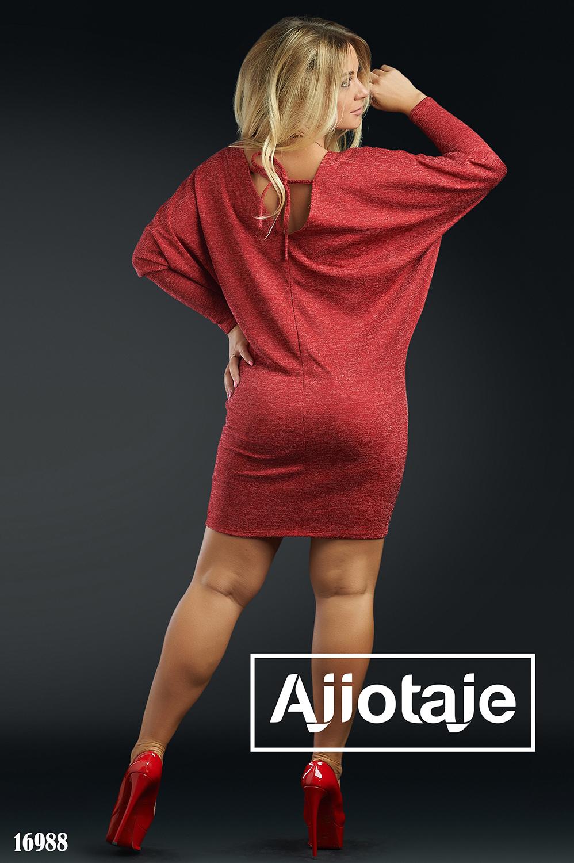 Красное платье мини с рукавом