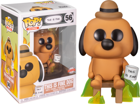 Фигурка Funko Pop! Icons - This Is Fine Dog (Excl. to Entertainment Earth)