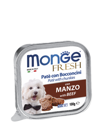 Monge Dog Fresh All Breeds Pate e Bocconcini con Manzo With Beef