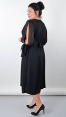 Алла. Изысканное платье plus size. Черный.