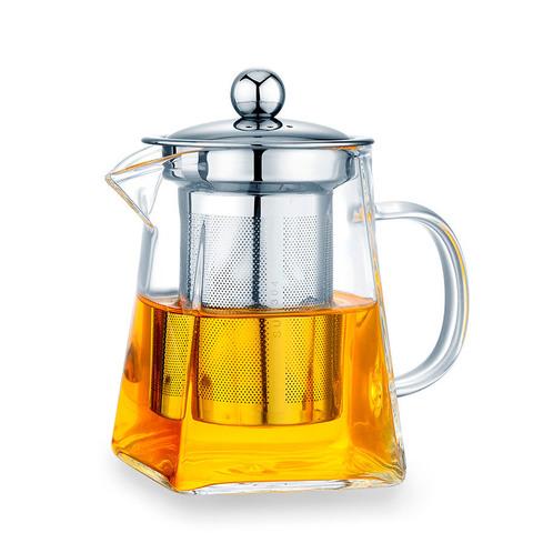 Чайник заварочный стеклянный квадратный с фильтром 750 мл