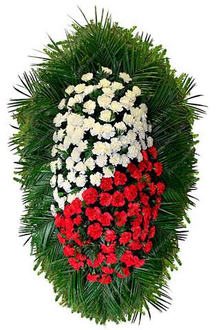 Траурный венок из живых цветов ВЖ 18