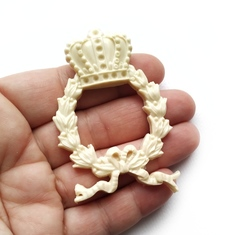 0694 Молд силиконовый. Венок с короной.