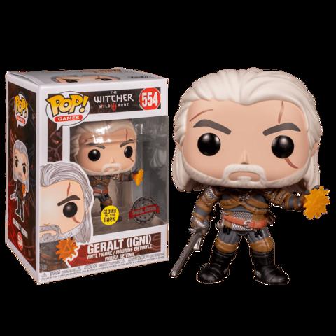Geralt Igni cast Special Edition Glows in the Dark Funko Pop!    Ведьмак Геральт с Игни