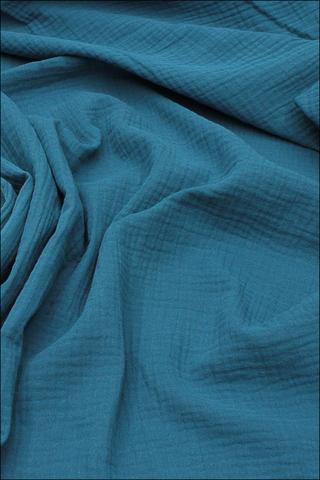 Ткань муслиновая,морская волна