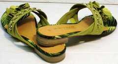 Модные сандалии летние шлепанцы женские Marco Tozzi 2-27104-20 Green.
