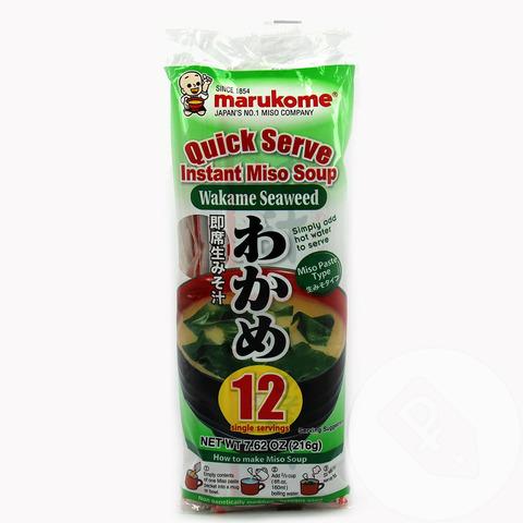 Мисо-суп быстрого приготовления с морской капустой Вакамэ 12 порций, 240г