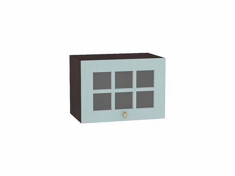 Шкаф верхний горизонтальный остекленный 500 Прованс (Голубой)