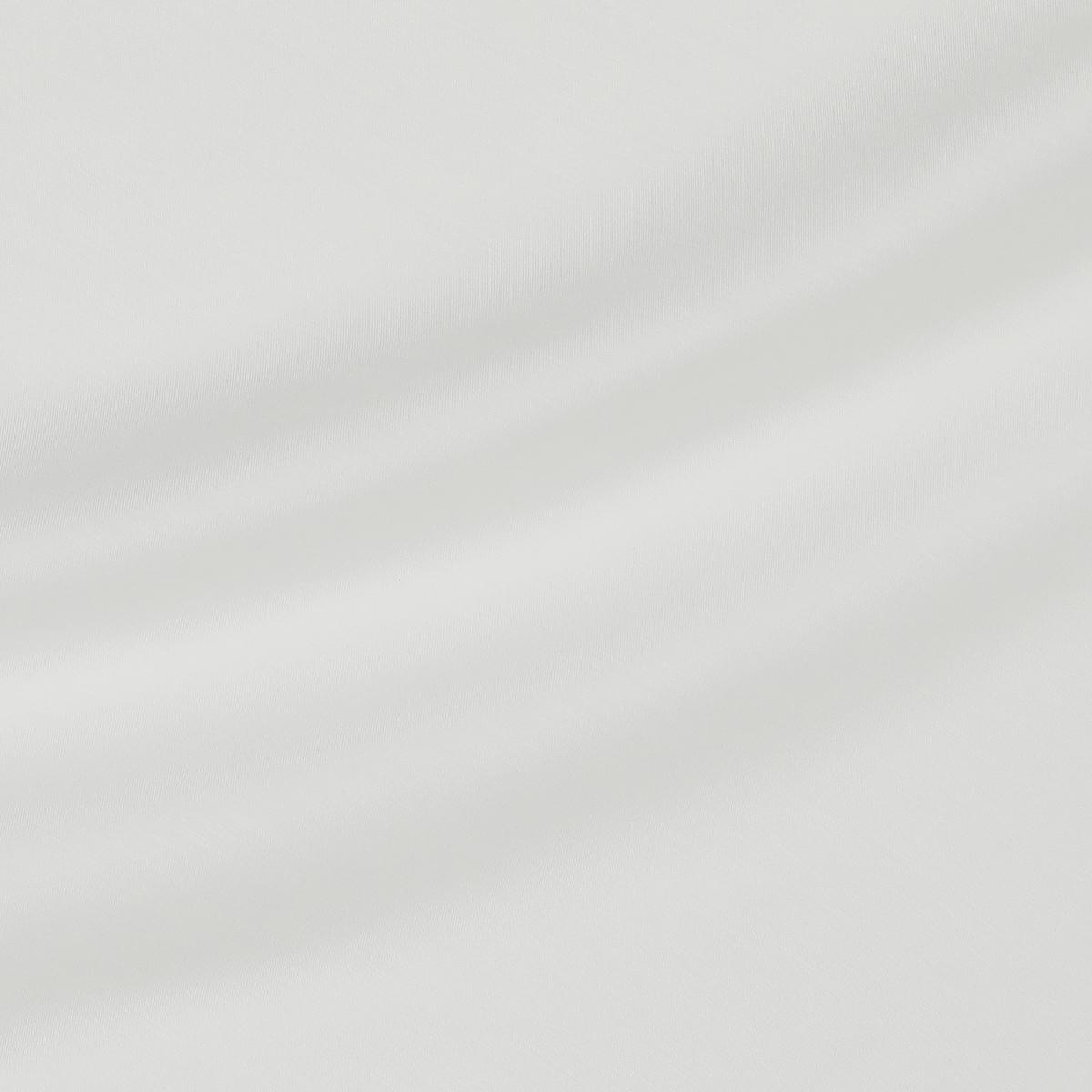 Вискозно-хлопковая полупрозрачная ткань белого цвета