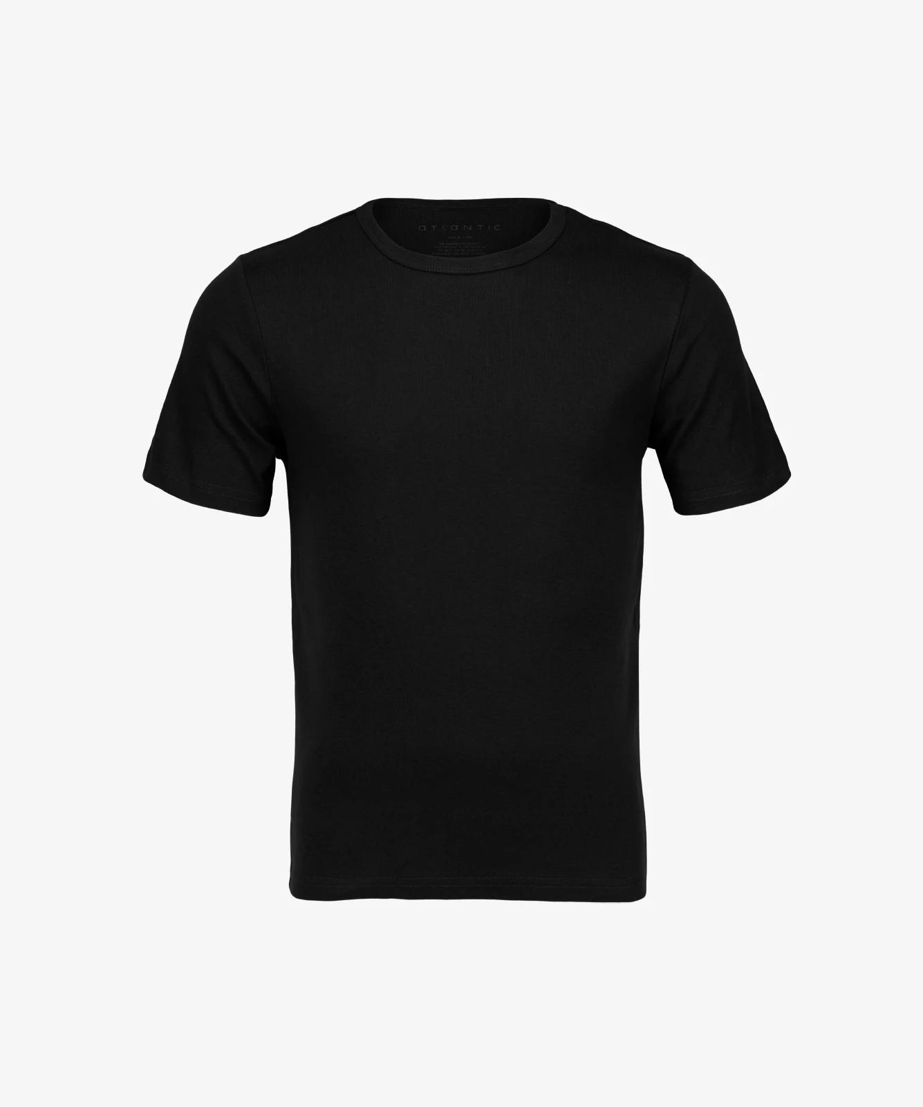 Футболка мужская Atlantic, 1 шт. в уп., хлопок, черная, Basic BMV-048