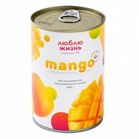 Люблю жизнь, Манго из Мьянмы (пюре из спелых фруктов БЕЗ САХАРА, полностью натуральное), 430гр