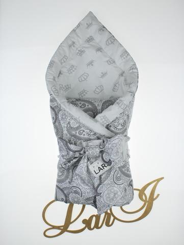 Конверт одеяло Забава (белый/серый)