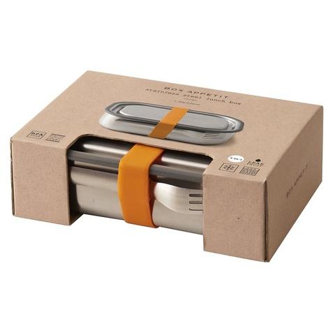 Ланч-бокс стальной Black+Blum, оранжевый