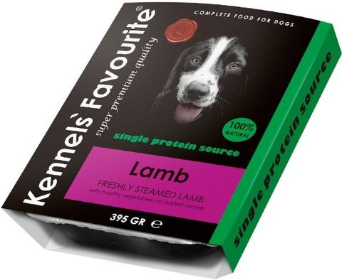 Kennels` Favourite 100% Lamb Свежепареное мясо с ягненком 395 гр.