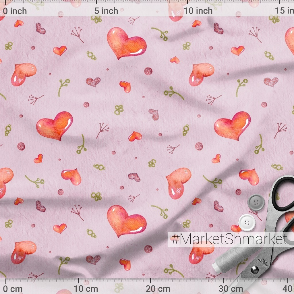 Яркие сердечки на розовом фоне