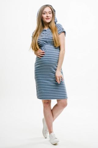 Платье для беременных и кормящих 10377 индиго