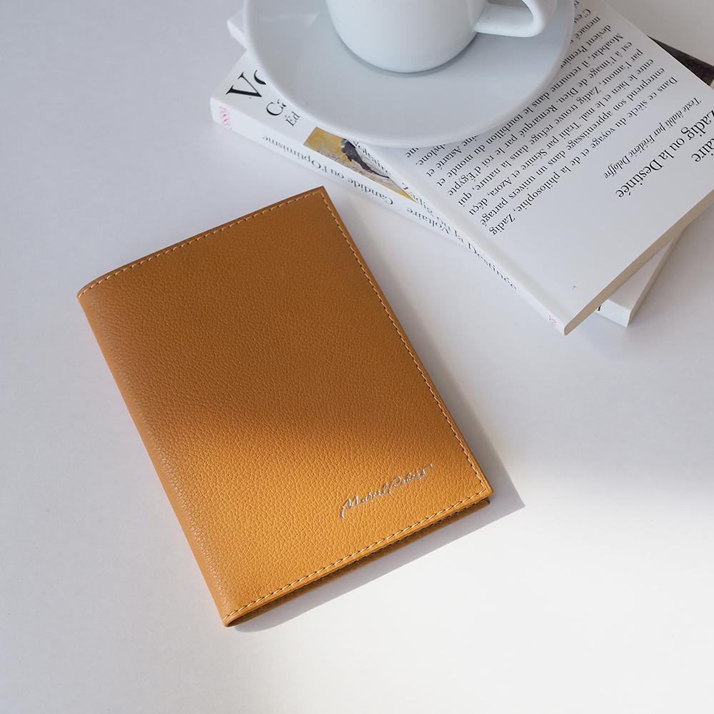 Обложка для паспорта и автодокументов Moscou Easy из натуральной кожи теленка, золотого цвета