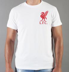 Футболка с принтом FC Liverpool (ФК Ливерпуль) белая 0015