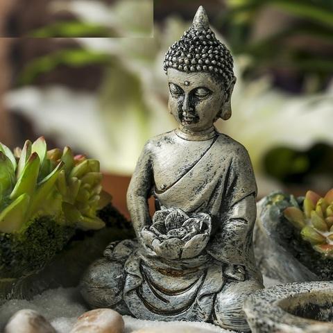 Сад Дзен Будда в саду камней, 11,5х18х22 см
