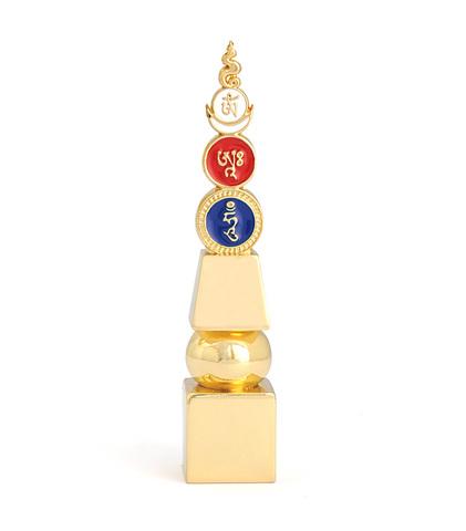 Пагода 5 элементов с ОМ АХ ХУМ маленькая