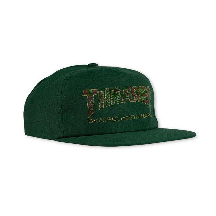 Кепка THRASHER Davis Snapback (Forest Green)