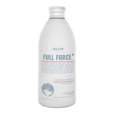 OLLIN PROFESSIONAL FULL FORCE Тонизирующий шампунь с экстрактом пурпурного женьшеня 300 мл