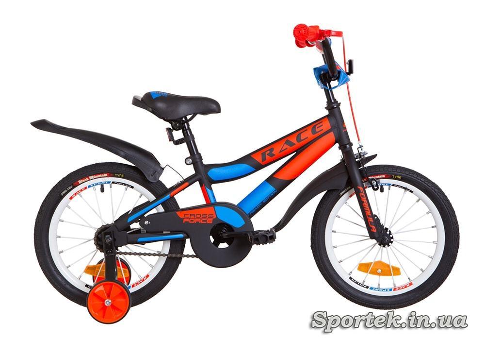 Детский 4-х колесный велосипед Formula Race (Формула Рейс) черно-красный
