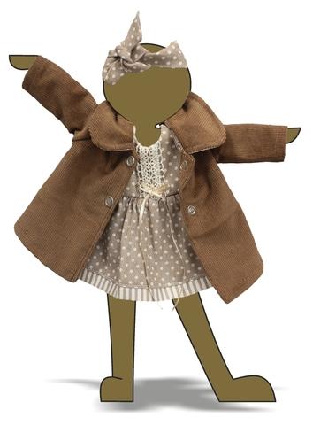 Пальто и платье - Демонстрационный образец. Одежда для кукол, пупсов и мягких игрушек.