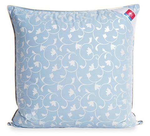 Подушка пухо-перьевая Камелия  70x70 голубой и шампань