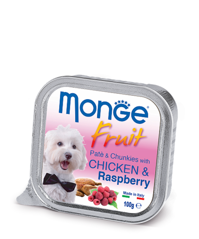 Monge Dog Fruit All Breeds Pate&Chunkies with Chicken&Raspberry